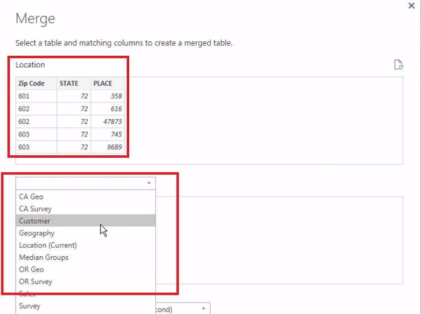 Power BI Merge Queries Step 4